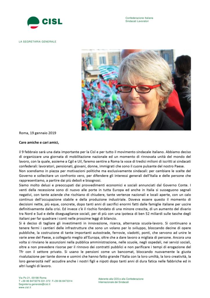 thumbnail of Lettera Annamaria Furlan alle iscritte e agli iscritti