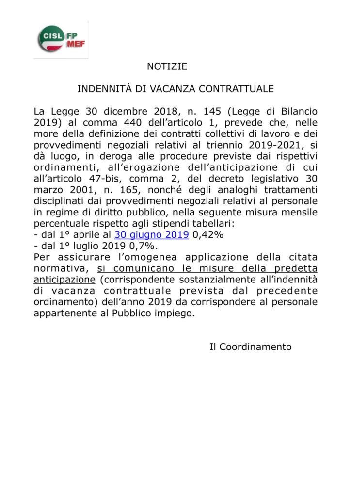 thumbnail of Indennità vacanza contrattuale