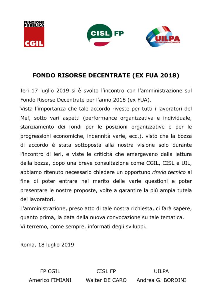 thumbnail of 20 COMUNICATO UNITARIO – Fondo Risorse Decentrate
