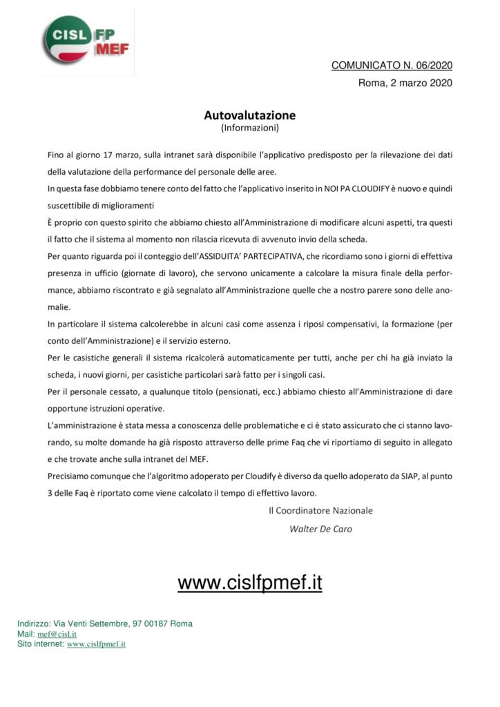 thumbnail of 6-20 COMUNICATO – Autovalutazione – informazioni.pdf