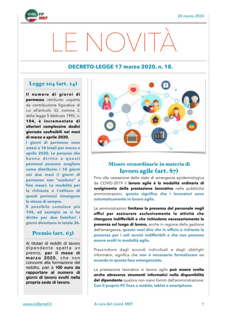 thumbnail of Le Novità – CISL