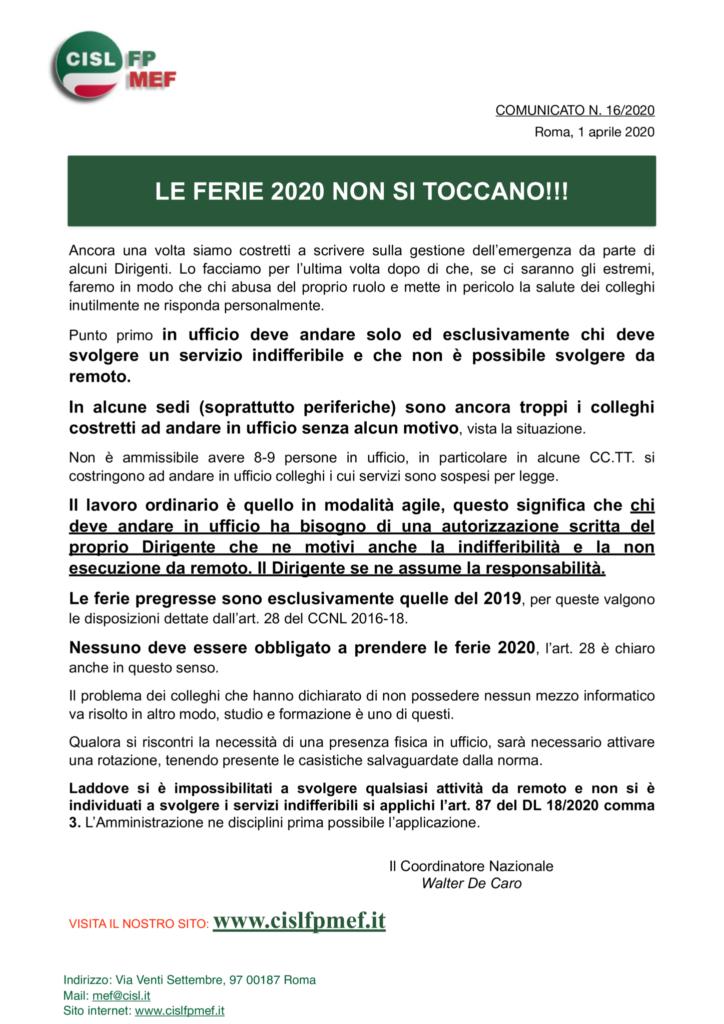 thumbnail of 16-COMUNICATO-Le-ferie-2020-non-si-toccano
