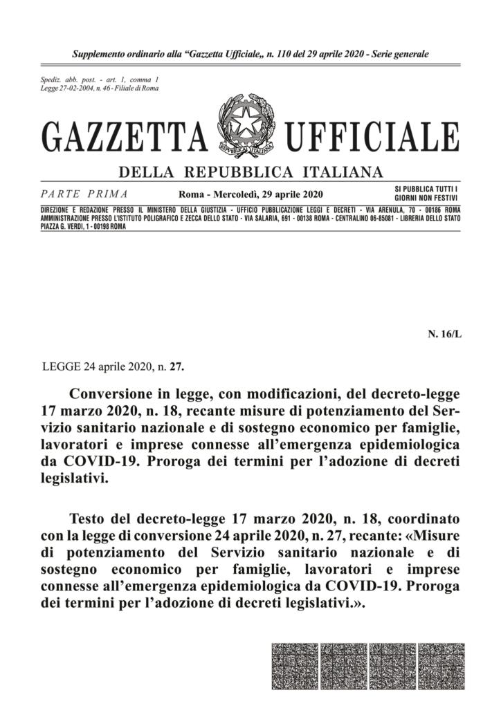 thumbnail of conversione in legge dl 18.20pdf