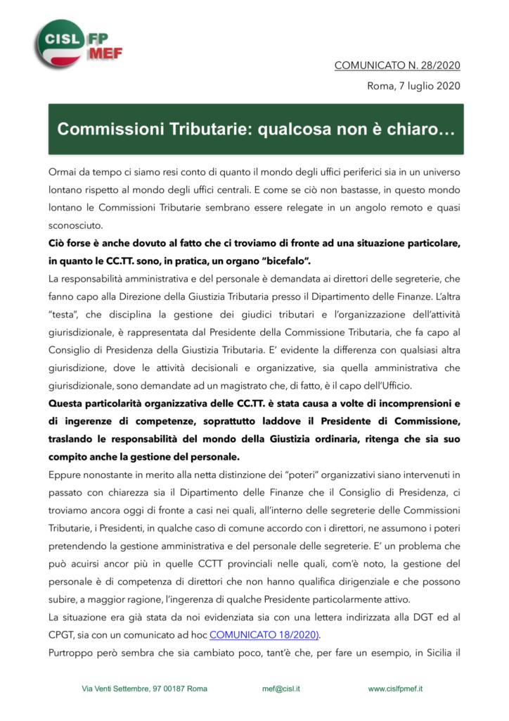 thumbnail of 28 COMUNICATO – COMMISSIONI TRIBUTARIE. QUALCOSA NON è CHIARO…