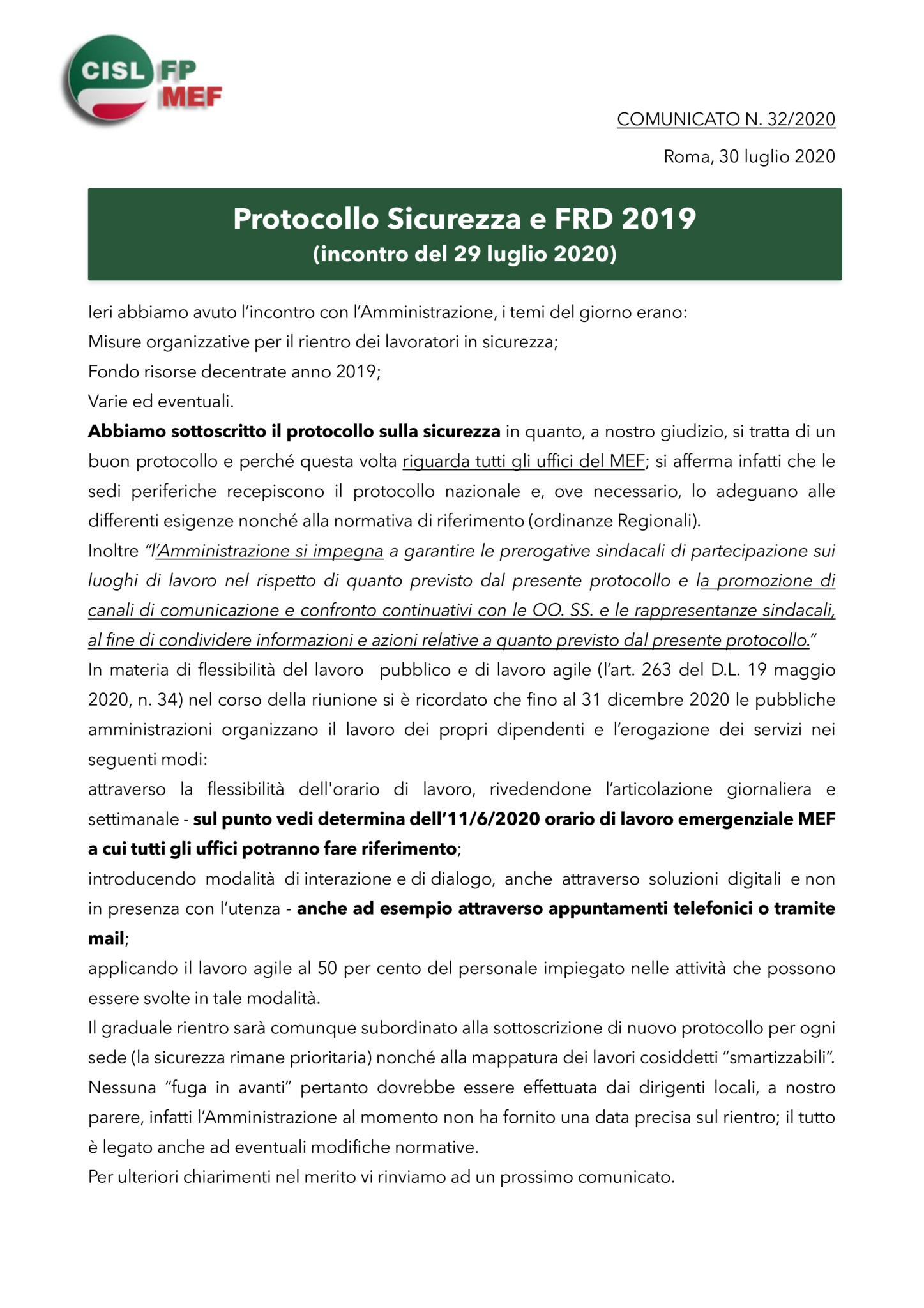 thumbnail of 32 COMUNICATO – PROTOCOLLO SICUREZZA E FRD 2019