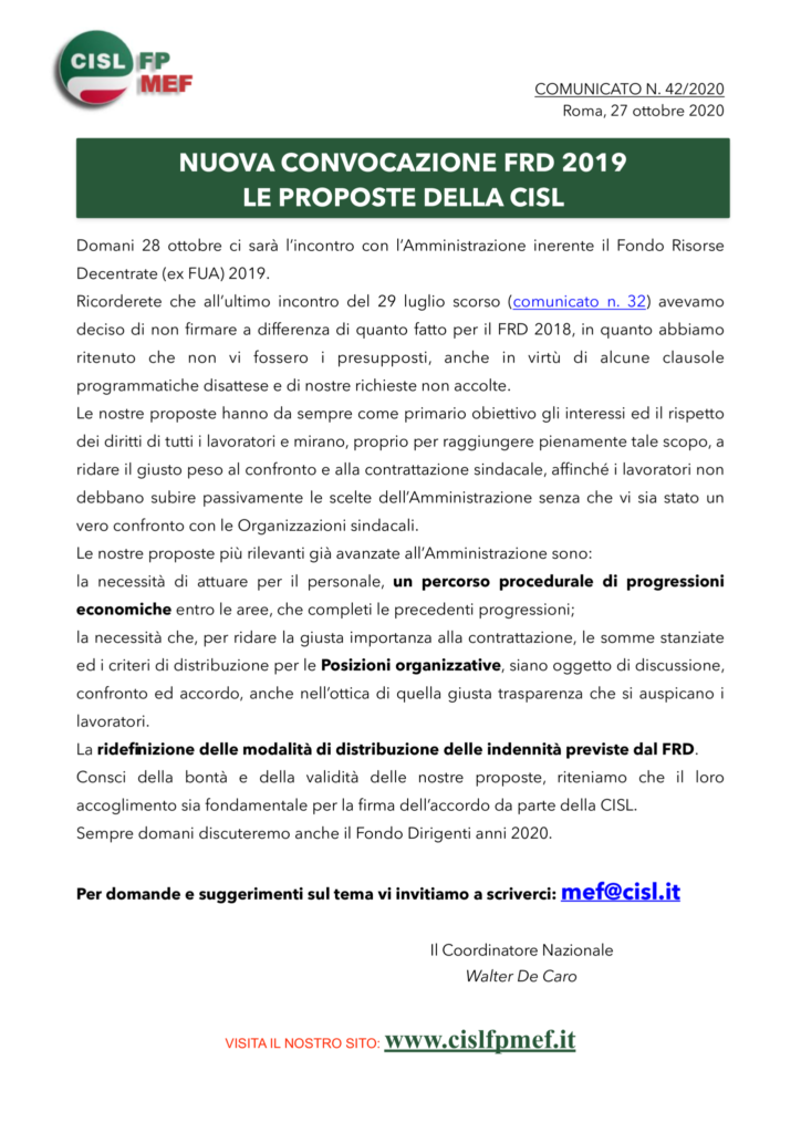 thumbnail of 4220-COMUNICATO-NUOVA-CONVOCAZIONE-FRD-2019-LE-PROPOSTE-DELLA-CISL