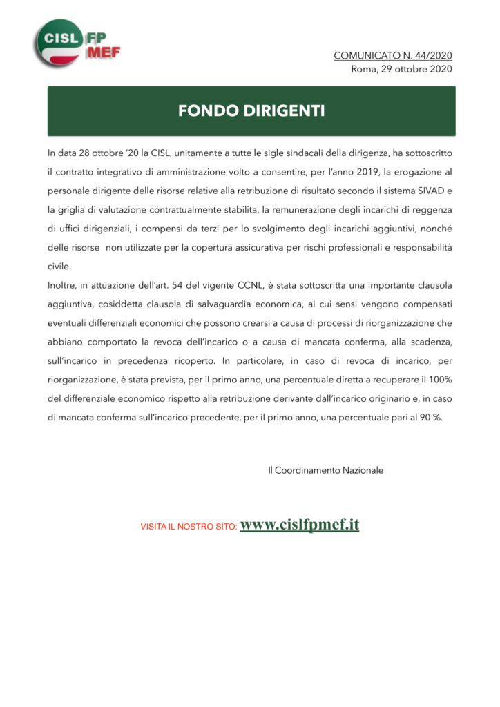 thumbnail of 44:20 COMUNICATO – FONDO DIRIGENTI