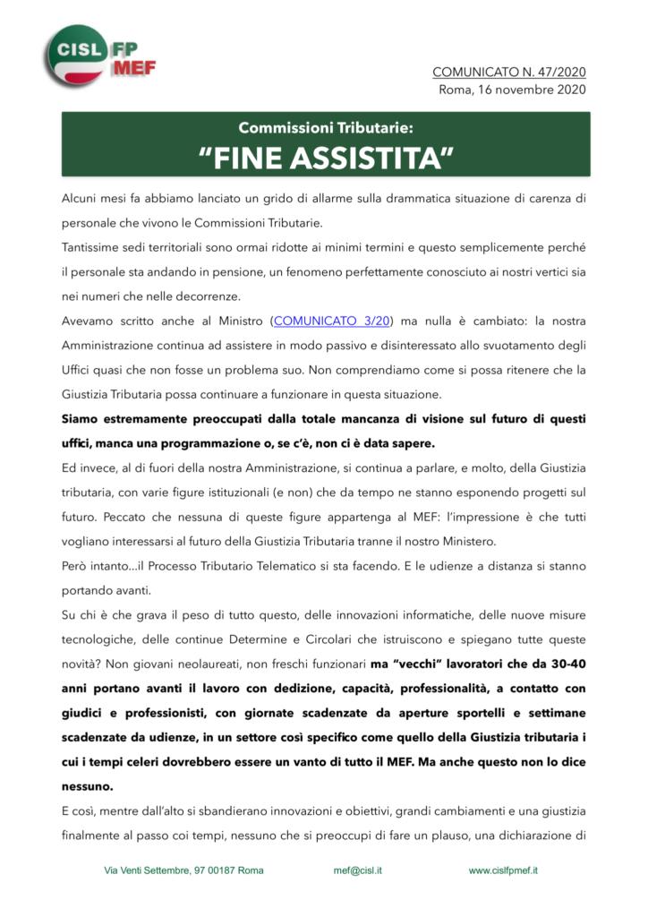 thumbnail of 47:20 COMUNICATO – Commissioni Tributarie- FINE ASSISTITA