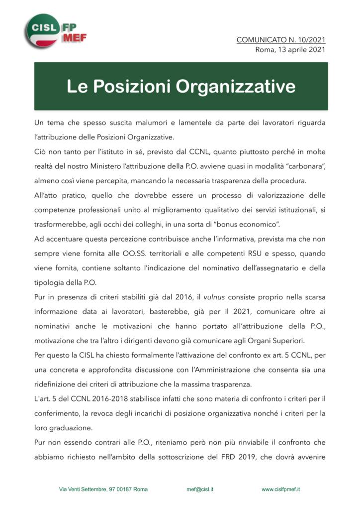 thumbnail of 1021-COMUNICATO-POSIZIONI-ORGANIZZATIVE