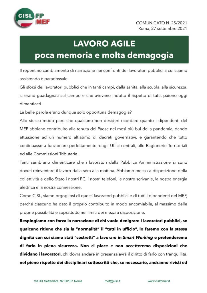 thumbnail of 2521-COMUNICATO-Lavoro-agile-poca-memoria-e-molta-demagogia