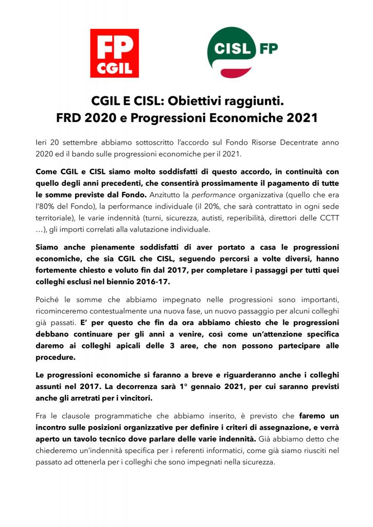 thumbnail of COMUNICATO-UNITARIO-CGIL-CISL-FRD-2020-e-PEO-2021